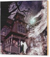 The Haunting Of Blackthorne Manor  Wood Print