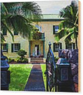 The Hawaiian Palace Wood Print