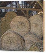 The Hay Barn Wood Print