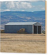 The Hay Shed Wood Print