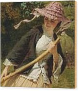 The Haymaker Wood Print