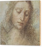 The Head Of Christ Wood Print