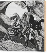 the Headless Horseman Wood Print