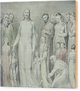 The Healing Of The Woman With An Issue Of Blood Wood Print by William Blake