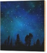 The Heavens Are Declaring Gods Glory Mural Wood Print