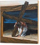 The Heaviest Cross To Bear Wood Print by Linda Rae Cuthbertson