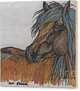 The Heavy Horse Wood Print