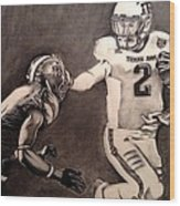 The Heismanziel Pose Wood Print by Mark Hutton