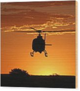 The Helicopter Wood Print