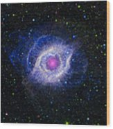 The Helix Nebula Wood Print