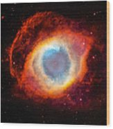 The Helix Nebula Wood Print