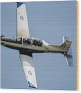The Hellenic Air Force Daedalus Demo Wood Print