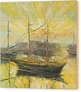 The Heraklion Harbour Wood Print