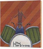 The Herbivores Wood Print