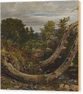 The Heron Disturbed Wood Print
