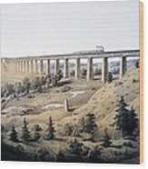 The High Bridge Near Farmville, Prince Wood Print