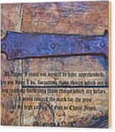 The High Calling Of God In Christ Jesus Wood Print