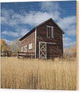 The High Grass Barn Wood Print