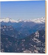 The High Mountain Country Wood Print