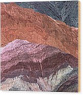 The Hill Of Seven Colors Argentina Wood Print