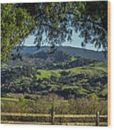 The Hills Wood Print