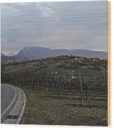 The Hills Of The Wine Wood Print
