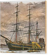The Hms Bounty Wood Print by Debra and Dave Vanderlaan