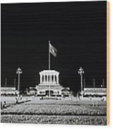 The Ho Chi Minh Mausoleum In Hanoi Wood Print