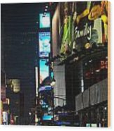 The Holidays In Time Square Wood Print