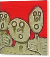 The Hollow Men 88 - Three Walkers Wood Print