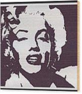 The Hollywood Goddess Wood Print
