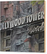 The Hollywood Hotel Signage Wood Print