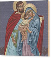 The Holy Family For The Holy Family Hospital Of Bethlehem Wood Print