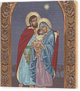 The Holy Family For The Holy Family Hospital Of Bethlehem With Frame Wood Print