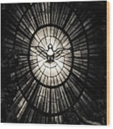 The Holy Spirit As A Dove Wood Print