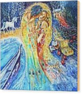 The Homecoming Kiss After Gustav Klimt Wood Print