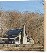 The Homeplace - Main House Wood Print