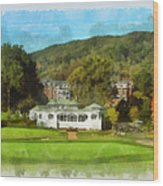The Homestead Country Club Wood Print