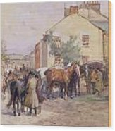 The Horse Fair  Wood Print