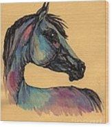 The Horse Portrait 1 Wood Print