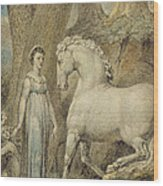 The Horse Wood Print by William Blake