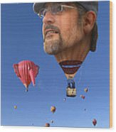 The Hot Air Surprise Wood Print