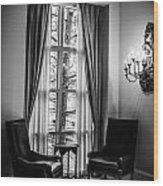 The Hotel Lobby Wood Print
