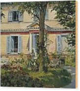 The House At Rueil Wood Print