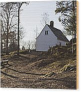 The House In The Woods Wood Print