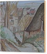 The House Of The Hanged Man After Cezanne Wood Print