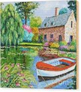 The House Pond Wood Print