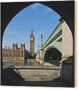 The Houses Of Parliament In London Wood Print