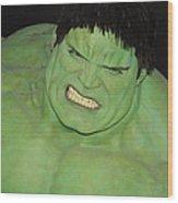 The Hulk Wood Print