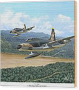 The Hun - F-100 Super Sabres In Vietnam Wood Print